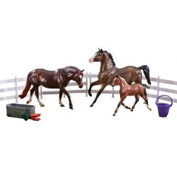 Breyer Classics 62200 - Kuce i źrebak Pony Power